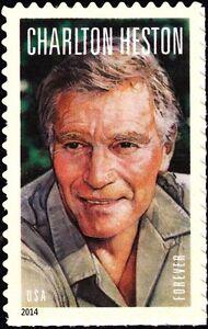 US USA 2014 Legends of Hollywood Carlton Heston Stamp Self Adh  Ex Sheetlet, MNH