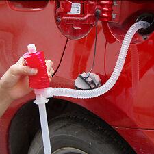 1xUniversal Car Manual Hand Siphon Pump Hose Gas Oil Liquid Syphon Transfer Pump