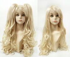 "Blonde Wig w/ Removable Ponytails Lolita Cosplay Harajuku Princess Long Wavy 30"""