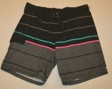 New listing Men's George Black Geo Stripe E-Borad Swim Shorts Sizes L, XL