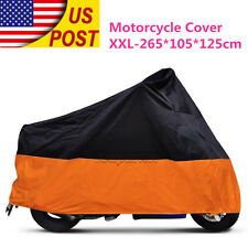 XXL Motorcycle Waterproof Cover For Harley Davidson Fatboy Softail Springer XL