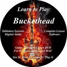 Buckethead Guitar TABS Lesson CD 344 Songs + Backing Tracks + BONUS!