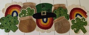 STOREHOUSE 13 in. X 36 in. colorful St. Patrick's Day beaded table runner NWT