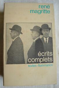René Magritte Ecrits complets Edition Flammarion André Blavier Année 1979