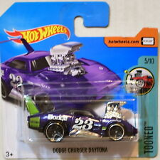 HOT WHEELS 2017 TOONED DODGE CHRGER DAYTONA #5/10 PURPLE SHORT CARD