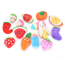 New listing Dog Toys Pet Puppy Chew Squeaker Squeaky Plush Sound Cute Fruit & Vegetable Jo