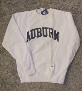 Authentic Champion NCAA Auburn Tigers Sweatshirt in White Sz. Medium