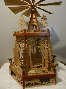 alte Weihnachtspyramide Erzgebirge 2 stufig Höhe 54 cm Handarbeit