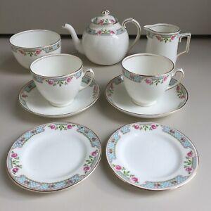 Vintage Art Deco Bone China Tea for 2 Tea Set & Teapot Ford & Pointon c.1920-36