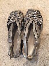 Peter Sheppard PAVI Pewter Metallic Leather Slip-Ons Size EU40-Good Cond-Spain