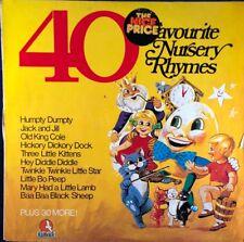 """40 Favourite Nursery Rhymes 12"""" Vinyl LP"""
