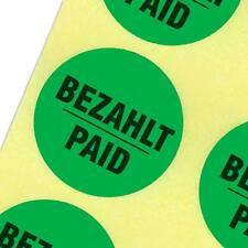 Etiketten bezahlt paid Haftpapier 30 mm rund kräftig grün Personalkauf