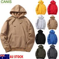 Teenager Fleece Men Women Plain Pullover Hoodie Hooded Hip-hop Jumper Sweatshirt