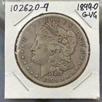 1899-O Morgan Silver Dollar $1 90% US Collectible Coin G-VG #102620-9