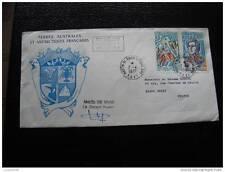 TAAF carta 7/4/77 - sello stamp - yvert y tellier n°61 et 62 (cy8)