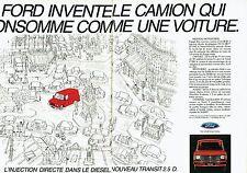 Publicité Advertising 077  1984  Ford  le Transit 2.5D (2 pages) camion