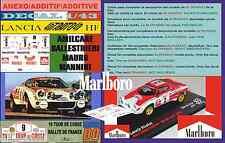 ANEXO DECAL 1/43 LANCIA STRATOS HF A.BALLESTRIERI TOUR DE CORSE 1974 MARLBO (01)