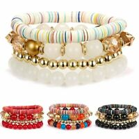 Bohemian Crystal Beads Tassel Women Bracelet Bangle Jewelry Party Gift Wristband