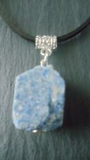 Lapis Lazuli Raw Necklace Adjustable Cord Crystal Pendant Chakra Healing Gift