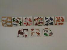 VINTAGE Sandylion Stoff Sticker Miniabrisse Fuzzy Tiere  zur Auswahl  90er J.