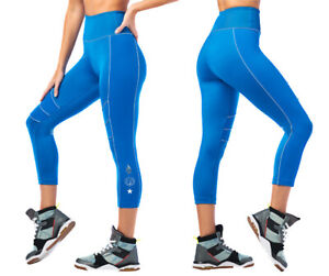 Zumba 2020 Panel Crop Capri Leggings - Jersey Blue ~ All sizes!  Free Shipping!