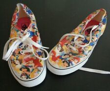 DISNEY x VANS Women's PRINCESS Lace Up Shoes Size 6 Sneakers FREE SHIPPING