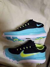 new Men's Nike FI Premier Teal Black Golf Shoe Cleats 835421 sz 8 9 10.5