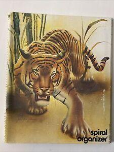 Vintage 1979 Mead tiger Spiral Organizer Notebook