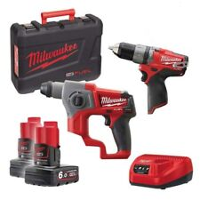 Kit Fuel Milwaukee M12 CPP2B-602X Tassellatore + Trapano a percussione batterie