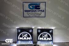 1 Paar MAN LKW LED Schilder für die Frontscheibe  - L 15cm x H 15cm !