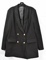 INC Women's Double Breasted Blazer - Suit Jacket, Black, Size L, NwoT