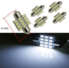 "10x 36 mm(1.5"") Xenon White 12-SMD 12V Festoon Dome  LED Bulbs DE3021 DE3423"
