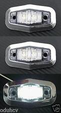 2x 12V LED lato BIANCO Cornice cromata luci di ingombro per Camion Furgone Bus