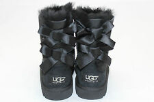 NEW Girl's Baby Walker UGG Bailey Bow Boots - Size 6 M - Black (J1)