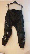 WOLF 3352 Titanium Leather Motorcycle Sport Trousers Black UK 30 EU 40