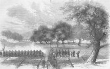 CHINA. Opium Wars. Taking of Sai-Lau, Canton River, antique print, 1858