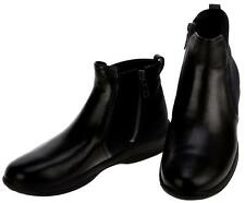 NEW PRADA LADIES BLACK LEATHER TESSUTO COMFY ZIP ANKLE BOOTS SHOES 36