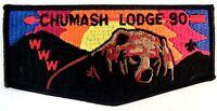 MERGED CHUMASH OA LODGE 90 CANALINO PATCH LOS PADRES FELT BEAR & MTNS F3 FLAP