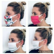 white FACE MASK-protect yourself-STREET WEAR - reusable-washable-
