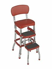Cosco Retro Counter Chair/Step Stool, Red