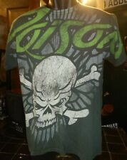 Poison gray small t-shirt, American glam heavy metal band formed in 1984