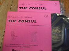 LAT 8012/13 Menotti The Consul / Neway / Engel etc. Black/Gold 2 LP set