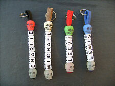 PERSONALISED PARACORD SKULL KEYRING IN VARIOUS COLOURS