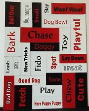 "Dog Canine Magnetic Poetry Magnet Words 5 1/2"": x 4 1/4"" Party Favor Gift NEW"
