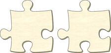 Puzzle vuoti all'infinito, taglia L, Set 2 parti, parti Puzzle in legno, dipingere