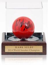 Red Snooker Bola Firmada a Mano por Mark Selby AFTAL Foto Prueba cert. de autenticidad Leicester