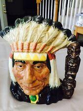 Royal Doulton Character Jug Large North American Indian D6611