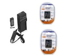 2 Batteries + Charger for Panasonic DMC-FT10 DMC-FT10S DMC-FT10K DMC-FT10A TS10A
