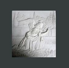Ange de l'Annonciation plaque 19cm fait main, nouvelles plaques plâtre gypse