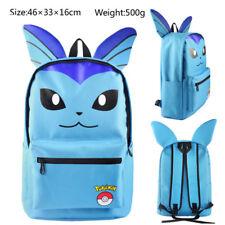 Pokemon Vaporeon Backpack Girl School Bag Boy Canvas Shoulders Bag Anime Cosplay